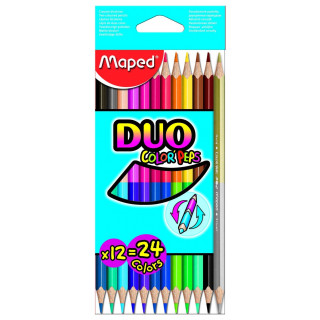 "Цветные карандаши двусторонние MAPED ""DUO Color peps"", 12шт."