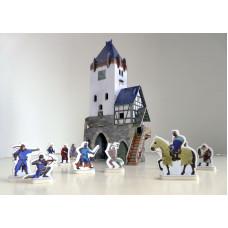 """Сборная игровая модель и картона """" Дозорная Башня""""."""