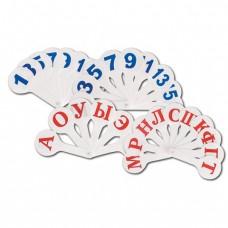 Набор 3 веера: гласные, согласные, цифры до 20