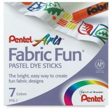 """Пастель для ткани Pentel """"FabricFun"""", 7 цв."""
