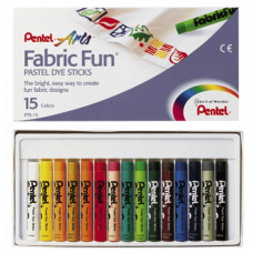 """Пастель для ткани Pentel """"FabricFun"""", 15 цв."""