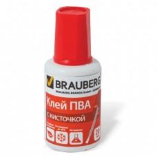 Клей ПВА Brauberg 20гр с кисточкой