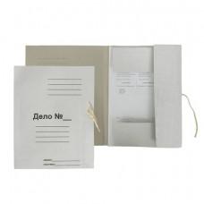 Папка д/бумаг с завязками, картон