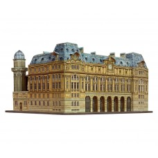 """Сборная модель из картона, вокзал """"Сен-Лазар"""", масштаб 1/220."""