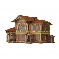 """Сборная модель из картона, железнодорожная станция """"Можайская"""", масштаб HO 1/87."""