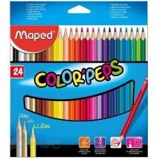 "Карандаши цветные Maped ""Color'Peps"" 24 цв."