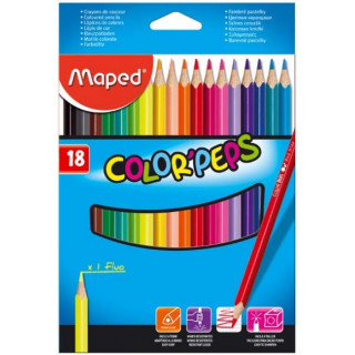 "Карандаши цветные Maped ""Color'Peps"" 18 цв."