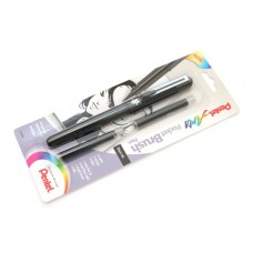 """Ручка-кисть Pentel """"Pocket Brush"""", с запасными картриджами, цвет чёрный."""