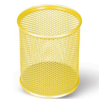 Подставка-органайзер BRAUBERG металлическая, кругл. основан, 94*81 мм, желтая.