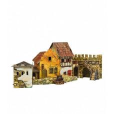 """Сборная игровая модель из картона """"Городская площадь. Рынок."""""""
