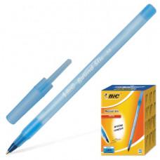 """Ручка шариковая BIC """"Round Stic"""", корпус голубой, толщ.письма 0,4мм, синяя"""