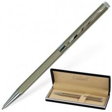 Ручка шариковая GALANT GFP014, подарочная, корп. серебристый, хромированные детали, синяя
