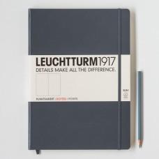Книга для записей MASTER SLIM A4+, антрацит, 121стр., ТОЧКА. Leuchtturm1917.