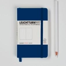 Книга для записей POCKET A6, темно-синий 185стр., НЕЛИНОВАННЫЙ, Leuchtturm1917.