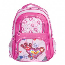 """Рюкзак BRAUBERG """"Цветы и сердце"""" для начальной школы."""
