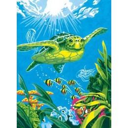 """Рисование по номерам """"Морская черепаха"""" 23*30 см"""