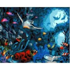 """Рисование по номерам """"Подводный мир"""" 40*50 см"""