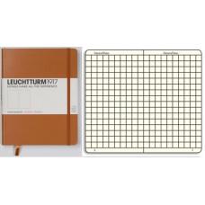 Книга для записей MEDIUM A5, карамель, 249стр, КЛЕТКА. Leuchtturm1917