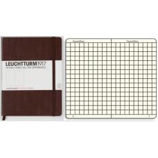 Книга для записей MEDIUM A5, коричневый(табак), 249стр, КЛЕТКА. Leuchtturm1917