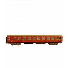 Сборная модель из картона, спальный вагон «Красная стрела», масштаб HO 1/87.