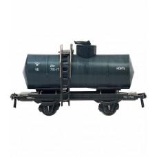 """Сборная модель из картона """"Цистерна двухосная"""" (нефть), масштаб HO 1/87."""