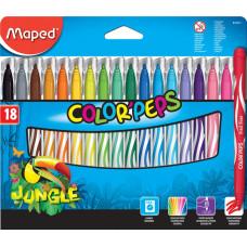 """Фломастеры Maped Color'peps """"Jungle"""", 18цв."""