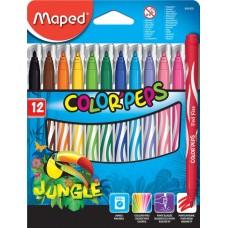 """Фломастеры Maped """"Color'peps Jungle"""", 12 цв."""