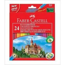 """Карандаши цветные Faber-Castell """"ЕСО Замок"""" 24цв. +точилка."""