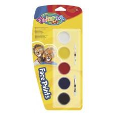 """Краски для грима в таблетках Colorino """"Kids"""", 2 апликатора + 5цв."""