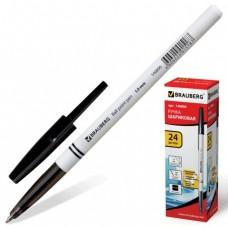 Ручка шариковая BRAUBERG офисная, толщ.письма 1мм (чёрная)