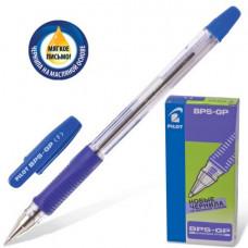 Ручка шар. масляная PILOT BPS-GP-F, с резиновым упором 0,7 мм, синяя.