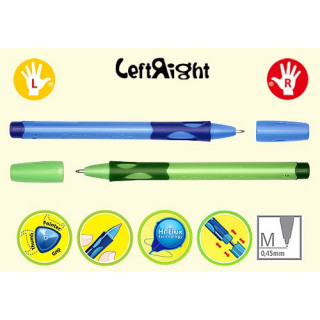 """Ручка шариковая Stabilo """"Left Right"""" для левшей, корпус голубой"""