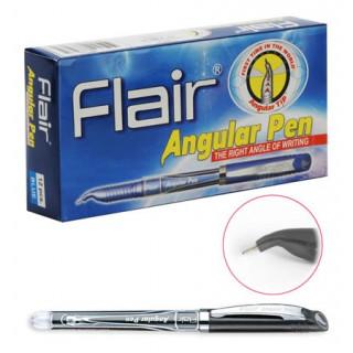 """Ручка шарик. Flair """"ANGULAR"""" для левшей, пластик, черная"""