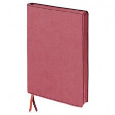 """Бизнес-блокнот BRAUBERG """"Tweed"""", А5 148x213 мм, под ткань, линия, 128 л., красный"""