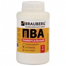 Клей ПВА BRAUBERG, 1 кг, универсальный (бумага, картон, дерево)