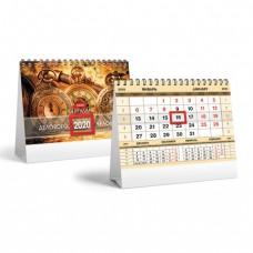"""Календарь-домик 2020 год, на гребне, 160х105 мм, горизонтальный, """"Золото"""", HATBER"""