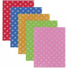 Цветной фетр для творчества, А4, 210х297 мм, BRAUBERG, узор из блесток, 5 листов, 5 цветов, толщина 2 мм