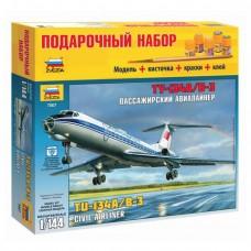"""Модель для склеивания Zvezda, """"Авиалайнер пассажирский Ту-134А/Б-3"""", 1:144"""