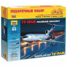 """Модель для склеивания, """"Авиалайнер пассажирский Ту-154М"""", масштаб 1:144"""