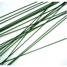 Проволочки с лакированным покрытием зеленого цвета в упаковке 25 шт. Предназначены для изготовления стеблей цветов.