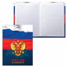 """Блокнот 7БЦ, А6, 160 л., обложка ламинированная, HATBER, """"Россия"""""""