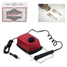 """Прибор для выжигания """"Узор-1"""" по дереву и ткани, с регулятором мощности, 2 насадки"""