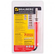 Набор для выжигания и пайки BRAUBERG, 7 насадок